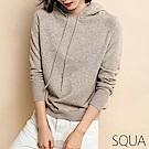 SQUA 素色坑條針織連帽上衣-三色-(S~L)