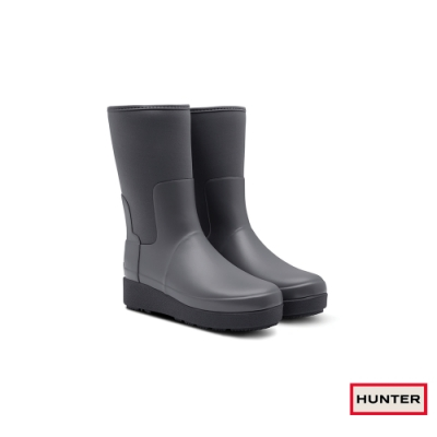 HUNTER - 女鞋-Refined平底短靴 - 霧灰