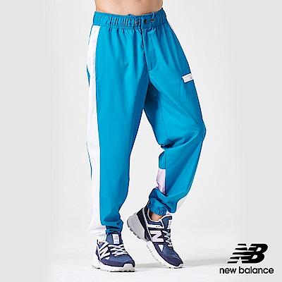 New Balance 經典拼色風褲_AMP91507DNP_男性_藍綠