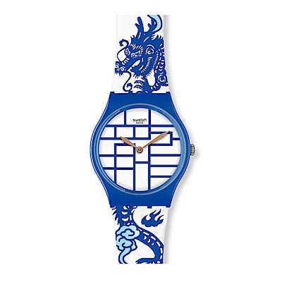 Swatch 生肖錶系列 YEAR OF THE DRAGON 翔龍獻瑞手錶