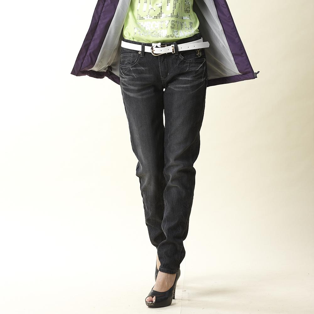 【TOP GIRL】合身窄管牛仔褲-黑