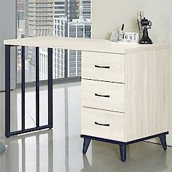 綠活居 海芙時尚4尺木紋書桌/電腦桌-121x56x80.7cm免組