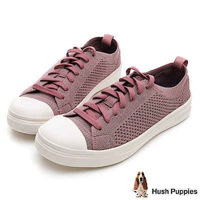Hush Puppies 玩色針織休閒鞋-粉紅