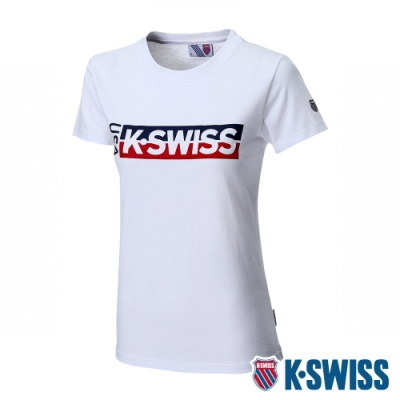 K-SWISS KS USA Tee印花短袖T恤-女-白