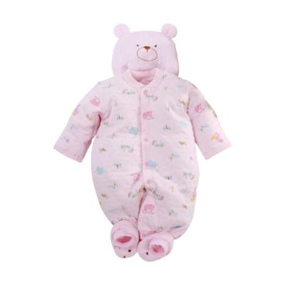 台灣製三層棉帽衣腳三件套兔衣組 b0235 魔法Baby