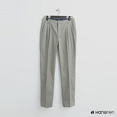 Hang Ten - 男裝 -純色打摺西裝褲-卡其