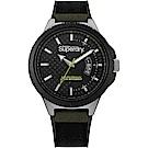Superdry 極度乾燥 軍風潮流時尚手錶-黑/45mm
