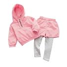 Baby童衣 韓版長袖假三件套裝 連帽長袖套裝 女童兩件式 88228