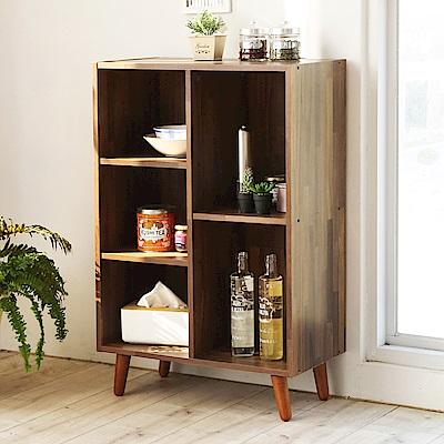 澄境 環保低甲醛開放五格收納書櫃61x30x93cm-DIY