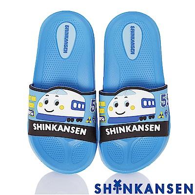 ShinKanSen新幹線 極輕量減壓室內外休閒拖鞋童鞋-藍