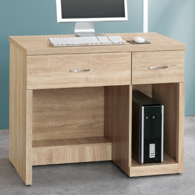 AS-艾薇橡木3.2尺開放式電腦桌-96x54x78cm