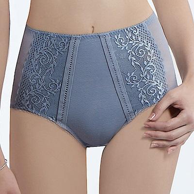 曼黛瑪璉 V極線 高腰三角修飾內褲(灰藍)
