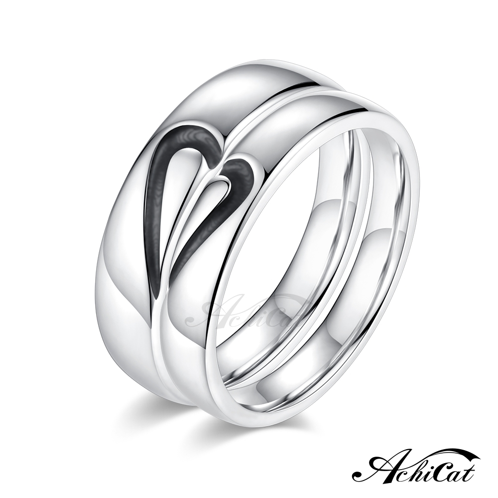 AchiCat 情侶戒指 925純銀戒指 拼湊愛情 愛心戒指 單個價格 product image 1