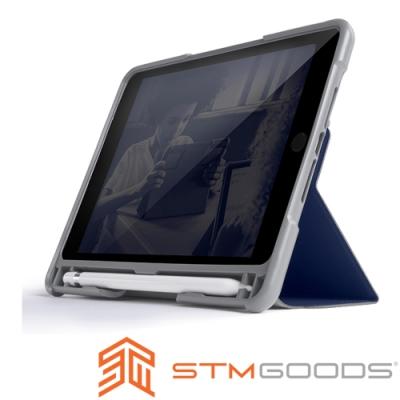 澳洲STM Dux Plus Duo iPad Mini 5專用內建筆槽軍規防摔殼-深夜藍