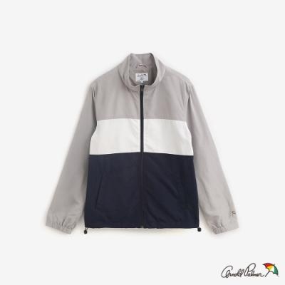 Arnold Palmer-男裝-尼龍運動拼接外套-白灰