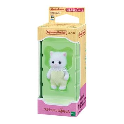 任選 日本 EPOCH森林家族 波斯貓嬰兒 白 EP14055 原廠公司貨