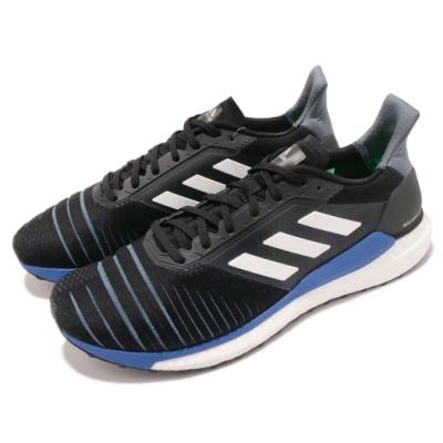 adidas 慢跑鞋 Solar Glide 運動 男鞋 愛迪達 Boost 透氣 馬牌外底 黑 藍