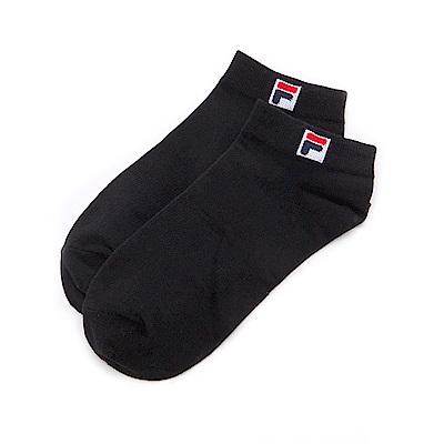 FILA基本款棉質薄底踝襪-黑 SCS-5000-BK