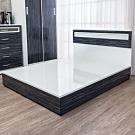 Birdie南亞塑鋼-5尺雙人塑鋼床組(床頭片+床底)(鐵刀木色)