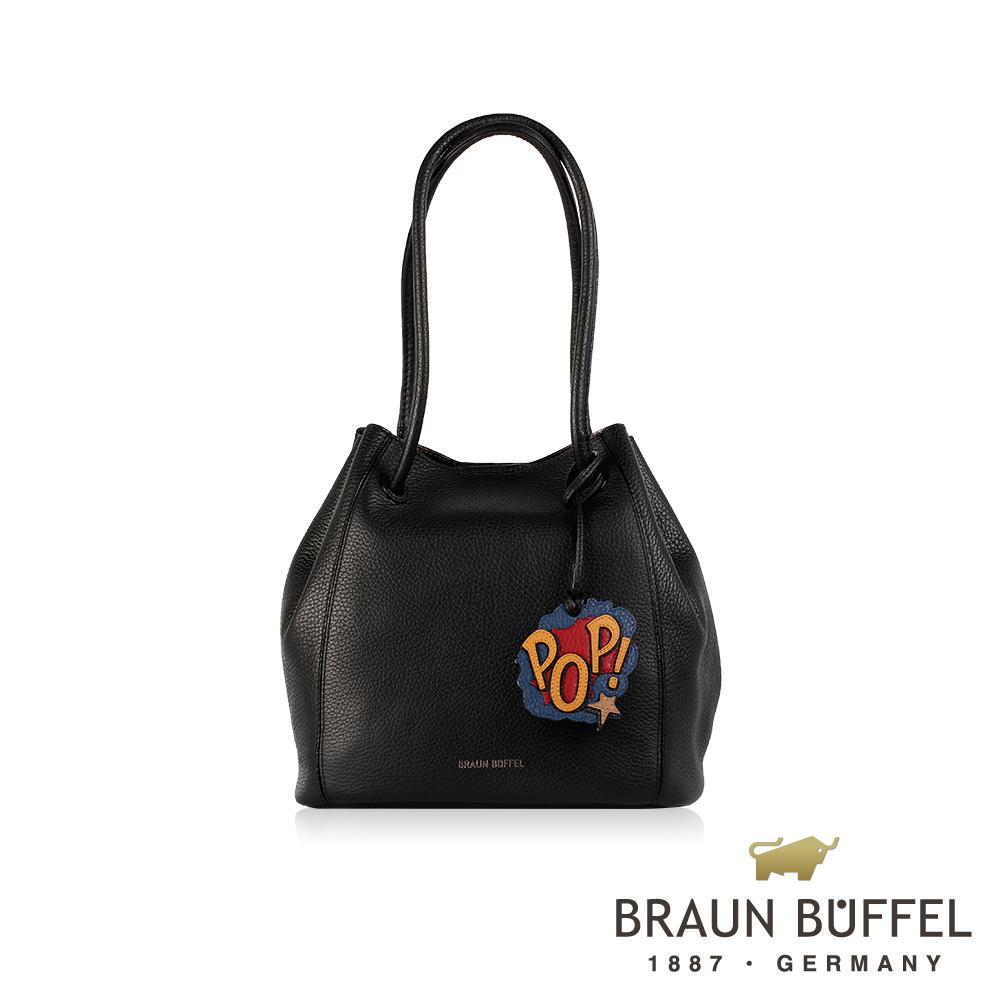 BRAUN BUFFEL -DELIA-P黛莉亞系列荔枝紋水桶包 - 安迪黑