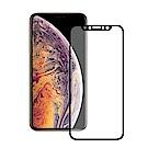 TEKQ iPhone X/XS康寧3D滿版9H鋼化玻璃5.8吋螢幕保護貼-黑
