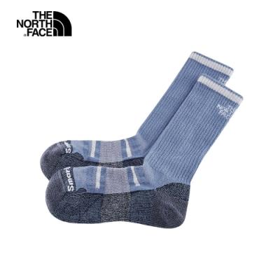 The North Face北面男女款灰藍色美麗諾羊毛運動長襪|3CNPKG8