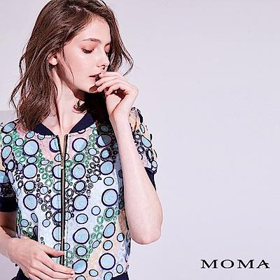 MOMA 立體繡花短版外套