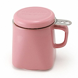 ZERO JAPAN 陶瓷泡茶馬克杯(玫瑰粉)400cc