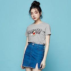 101原創 蠟筆小新WOW!!短袖T恤-麻灰-男女適穿