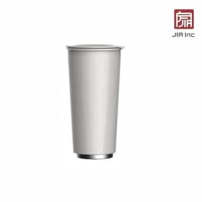 JIA Inc. 品家家品 虹彩鋼 雙層琺瑯塗層隨行杯470ml-白