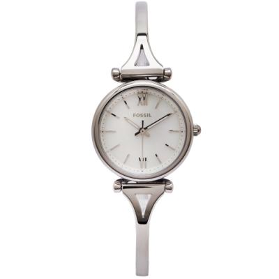 FOSSIL 珍珠貝錶盤的手環款錶帶手錶(ES4501)-珍珠貝面X銀色/28mm