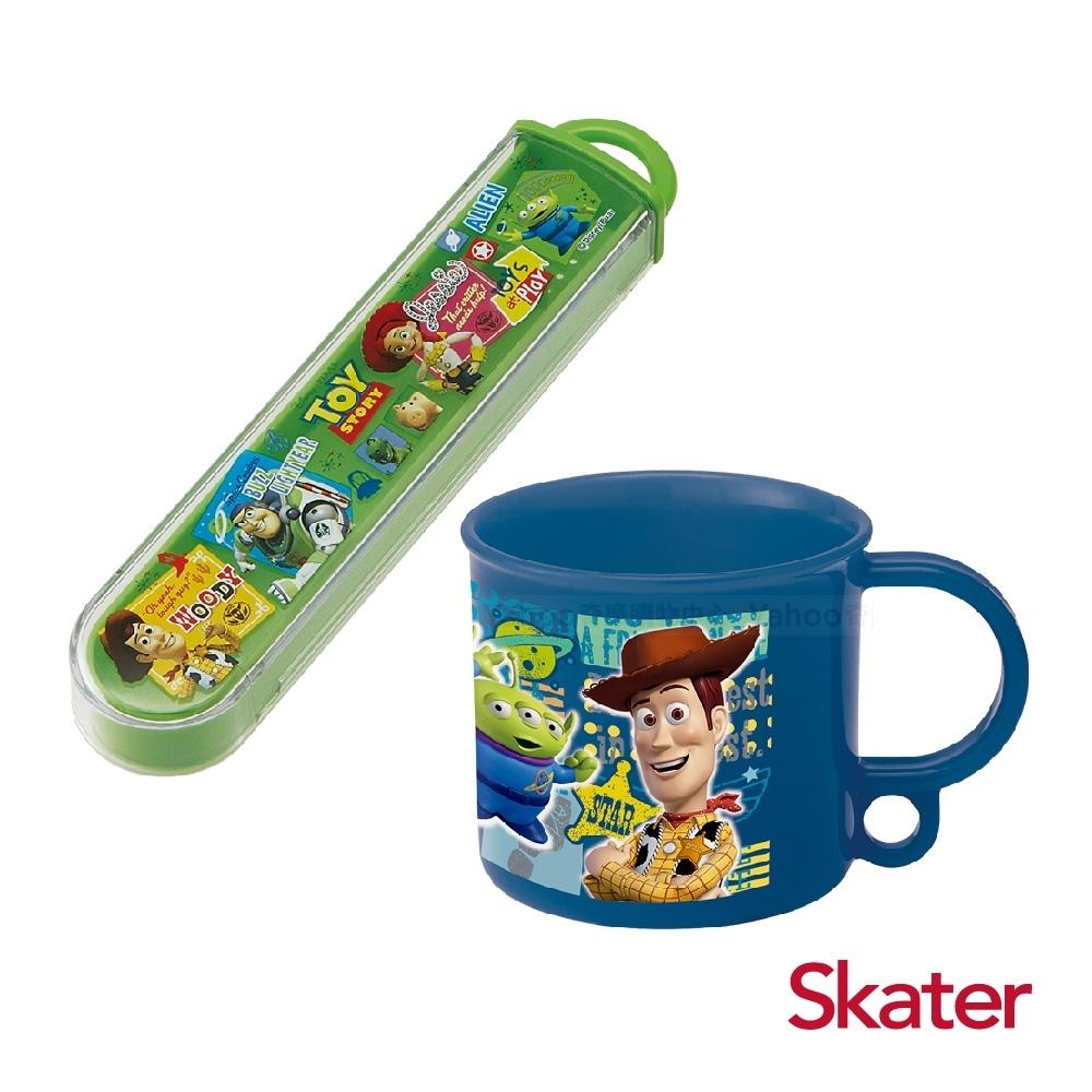 Skater牙刷收納盒+漱口杯-玩具總動員(藍)