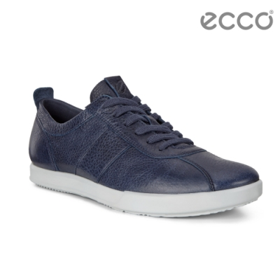 ECCO COLLIN 2.0 精緻復古綁帶休閒鞋 男-經典藍