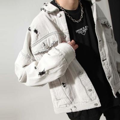 明亮色系刷色單寧夾克(3色) ZIP日本男裝