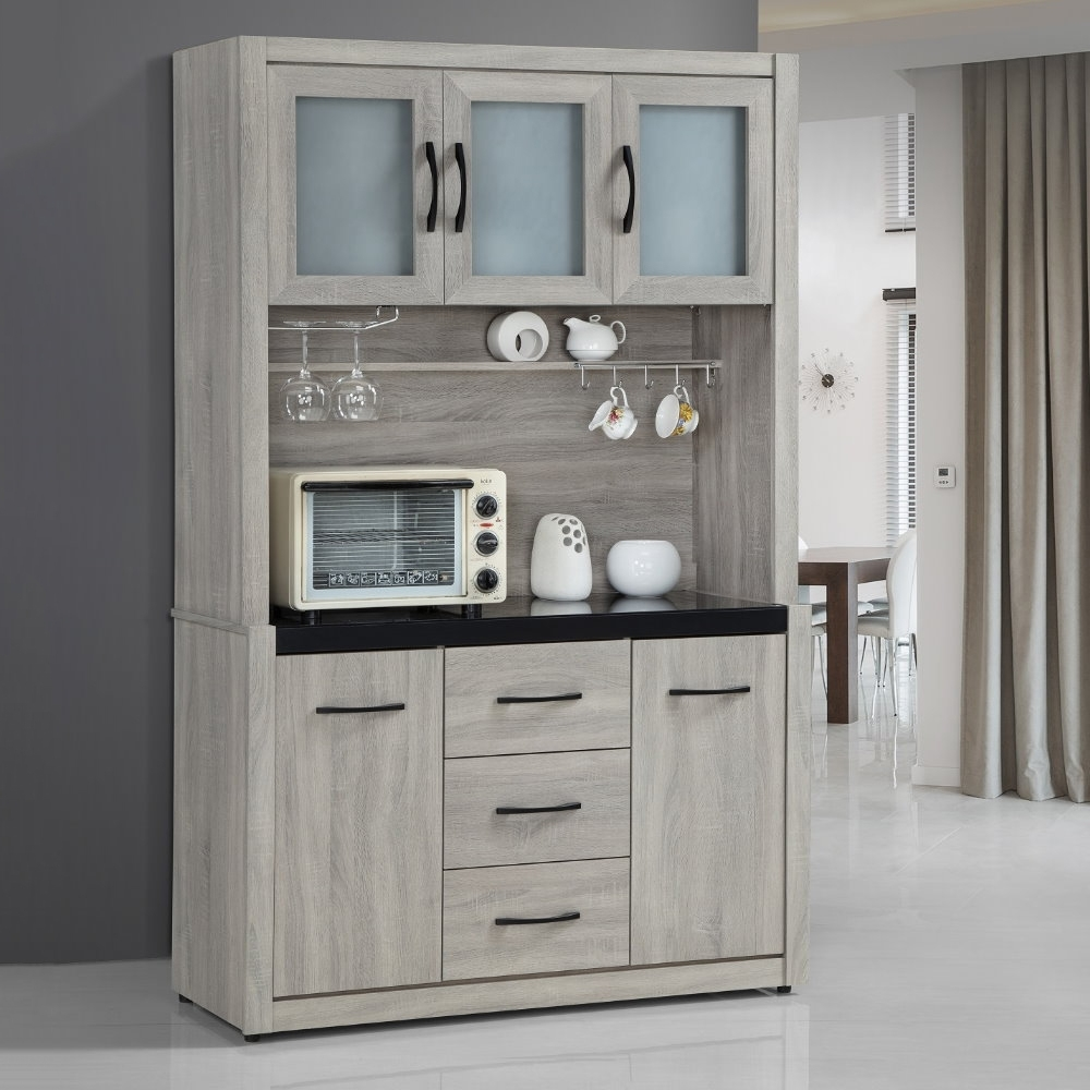 MUNA 依琳4尺餐櫃/碗盤櫃(全組) 121.2X41.8X197.2cm