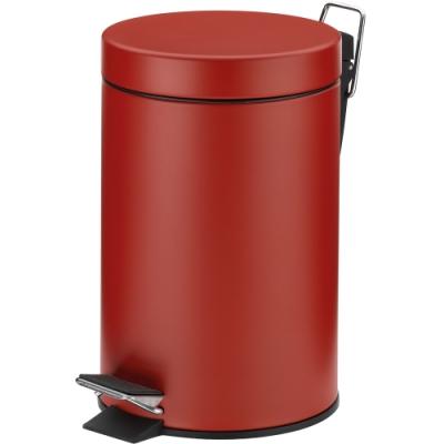 《KELA》簡約腳踏式垃圾桶(紅3L)