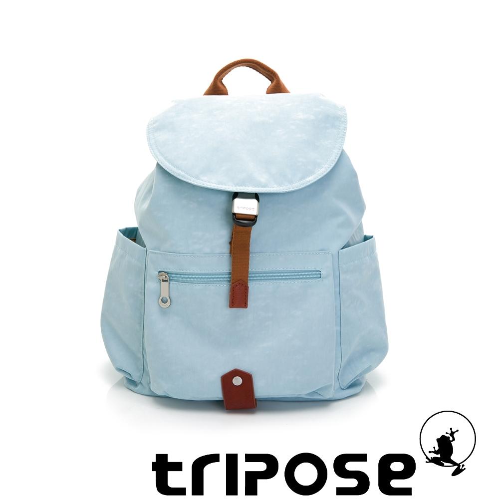 tripose MEMENTO系列微皺尼龍經典輕量後背包(大)湖水藍