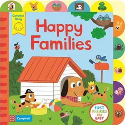 Little Tabs:Happy Families 快樂的一家人常用句學習書