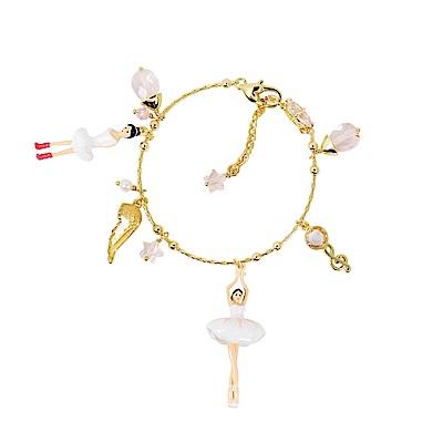Les Nereides 優雅芭蕾舞女孩系列 白色蓬蓬裙芭蕾舞者金色手鍊手環