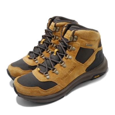 Merrell 戶外鞋 Ontario 85 Waterproof  登山 越野 耐磨 黃金大底 防水 黃褐 棕 男鞋 ML033867