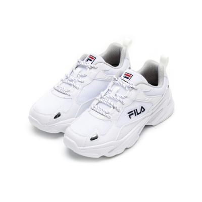 FILA MONSTER 女性慢跑鞋-白 5-J907U-113