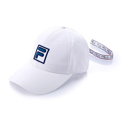 FILA時尚 LOGO 織帶帽-寶藍 HTS-5101-AB