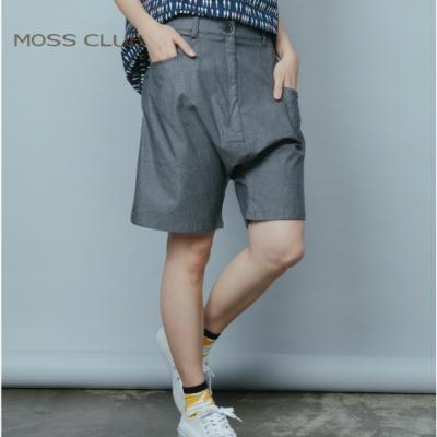 【MOSS CLUB】輕鬆優閒的午後準備跟朋友出門五分褲(藍色)