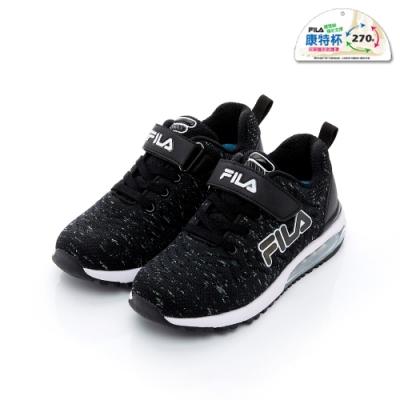 FILA KIDS 大童MD氣墊跑鞋-黑色 3-J815T-001