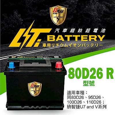 日本KOTSURU-8馬赫鋰鈦汽車啟動電瓶 80D26 R / 50Ah