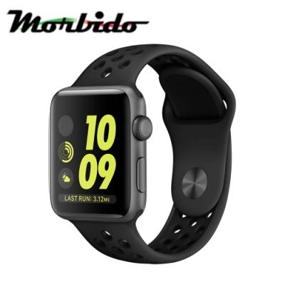 Morbido蒙彼多 Apple Watch 44mm運動型錶帶-煤黑配黑