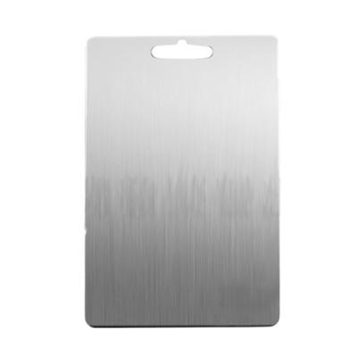 挪威森林 德式304不鏽鋼抗菌砧板/菜板/沾板(中號+大號)