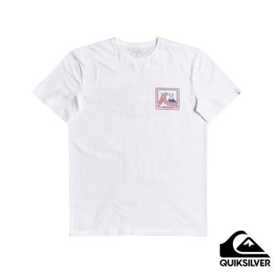 【QUIKSILVER】HIGHWAY VAGABOND SS 針織T恤 白色