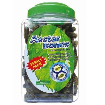 【A☆Star-Bones】A☆Star多效雙頭潔牙骨《綠色雙頭狼牙棒》2000g 超大桶裝