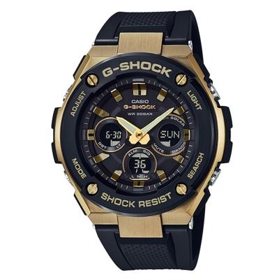G-SHOCK創新突破分層防護完美悍將休閒錶(GST-S 300 G- 1 A 9 )金框 49 . 3 mm
